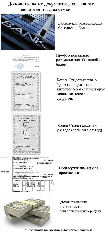 документы для заявителя