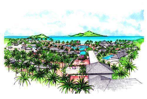 эскиз отеля в Невисе