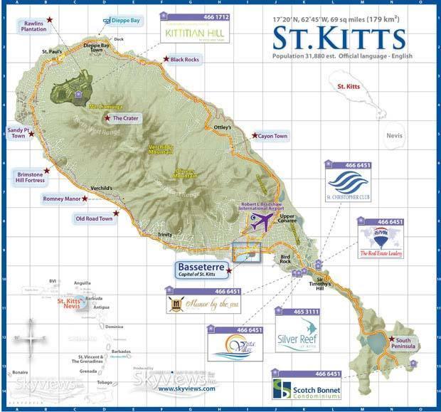 остров Сент-Китс и Невис