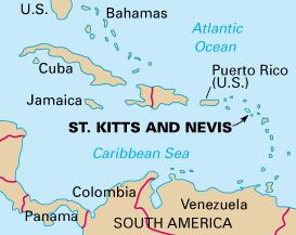 карта Невиса