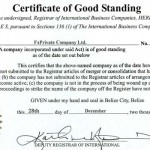 Зачем вашей годовалой офшорке нужен сертификат Good Standing и что это за зверь?