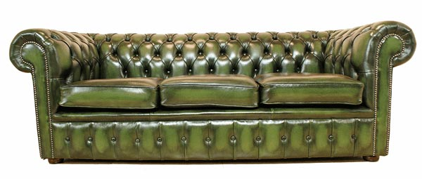 VIG Chesterfield Leather Sofa