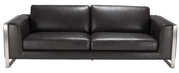 Sunpan Modern Bugatti Grain Leather Sofa