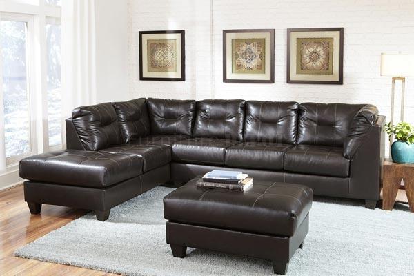 VIG Crocodile Leather Sectional Sofa