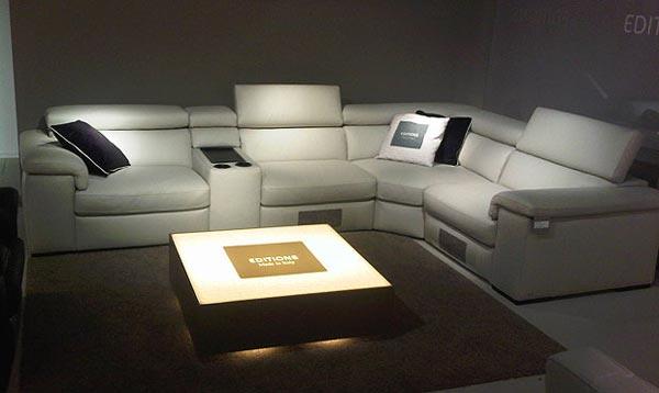 Fabio Leather Cinema Sofa