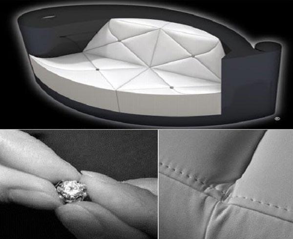 Plume Blanche Diamond Encrusted Sofa