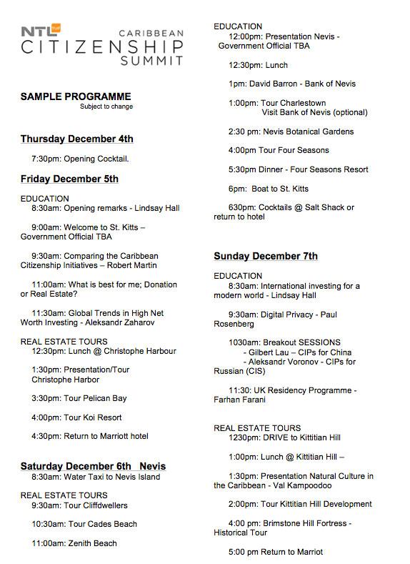 программа карибского саммита
