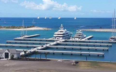 Новая марина на Сент-Китс и Невис