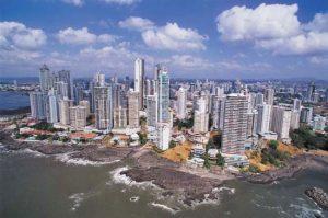 Panama City and Panama Bay
