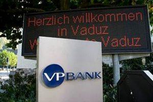 Швейцарский счет в VP Bank