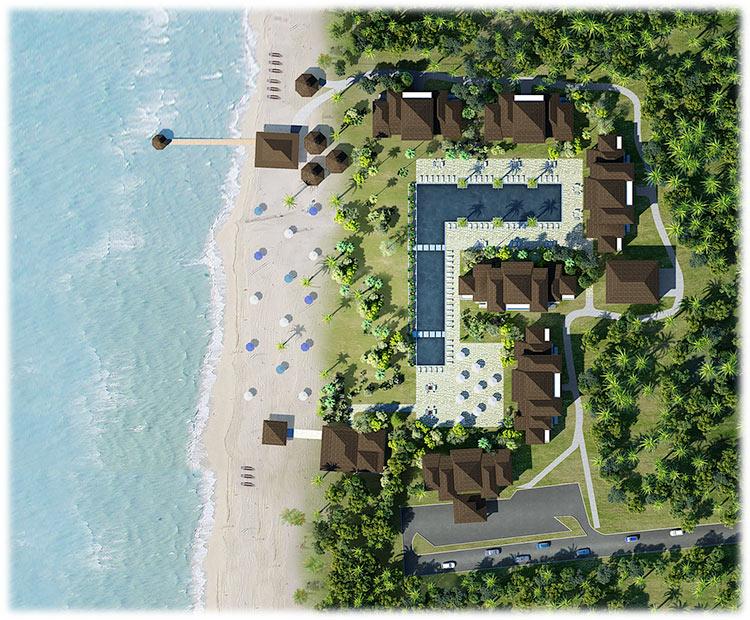 план отеля Fisherman's Cabana
