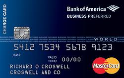 Платёжная карта Business Preferred World MasterCard