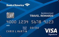 Кредитная карта Visa Bank Americard Travel Rewards