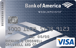 Кредитная карта Business Visa WorldPoints Rewards