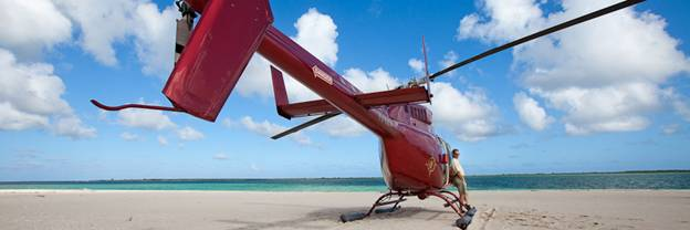 Вертолет компании Caribbean Helicopters Ltd