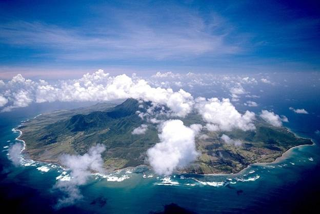 Невис с воздуха