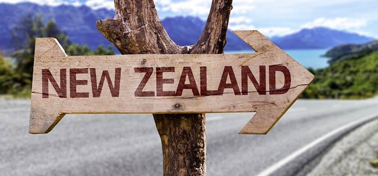Указатель в Новой Зеландии