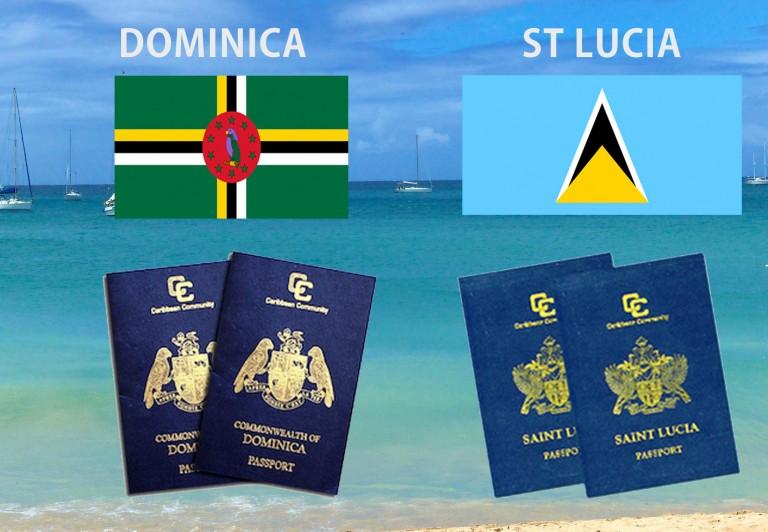 сравнение гражданства Сент-Люсии и Доминики:
