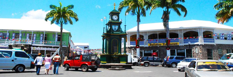 площадь в Сент-Китс и Невис