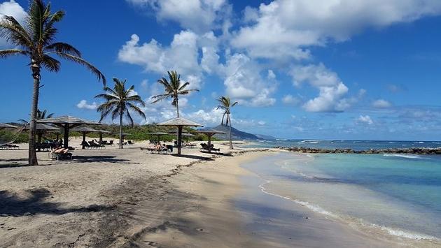 прогулки по пляжу Сент-Кист и Невис