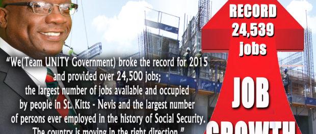 рост рабочих мест в Сент-Китс и Невис