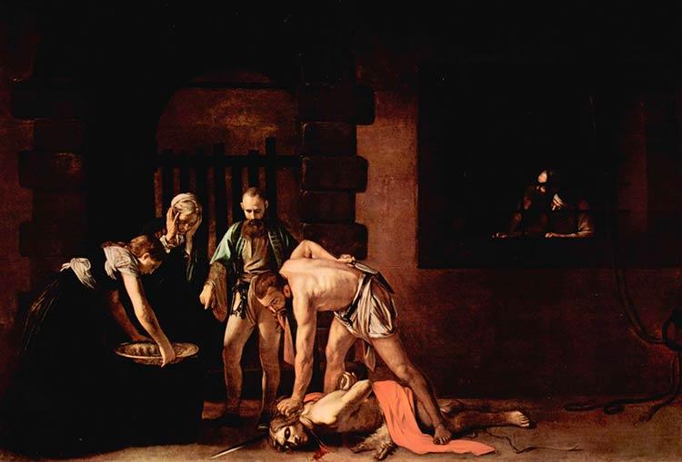 """Картина """"Обезглавливание Иоанна Крестителя"""" позднего Караваджо"""