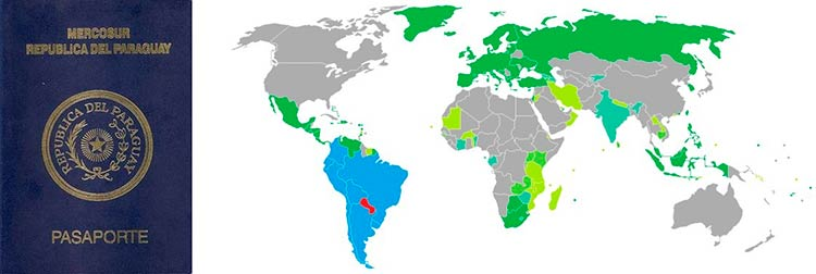 безвизовые страны для Парагвая