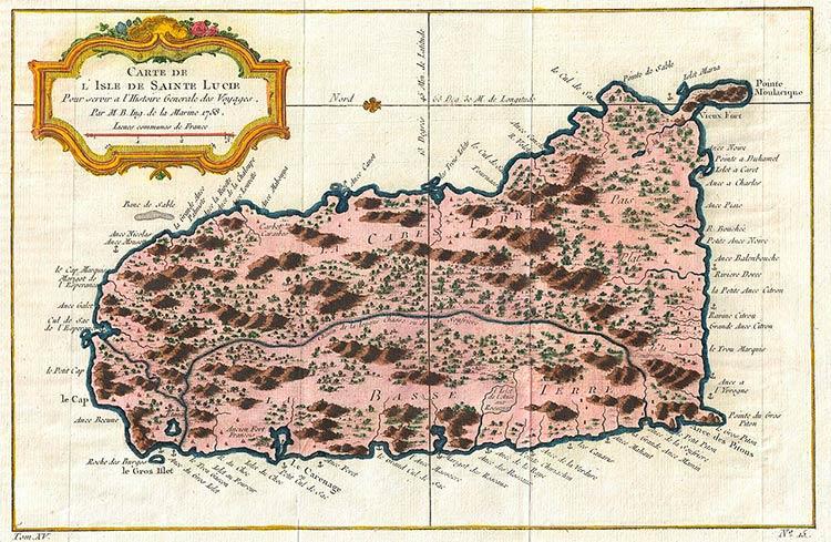 Карта 1758 года