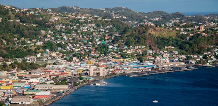 панорамный вид на Сент-Джорджес