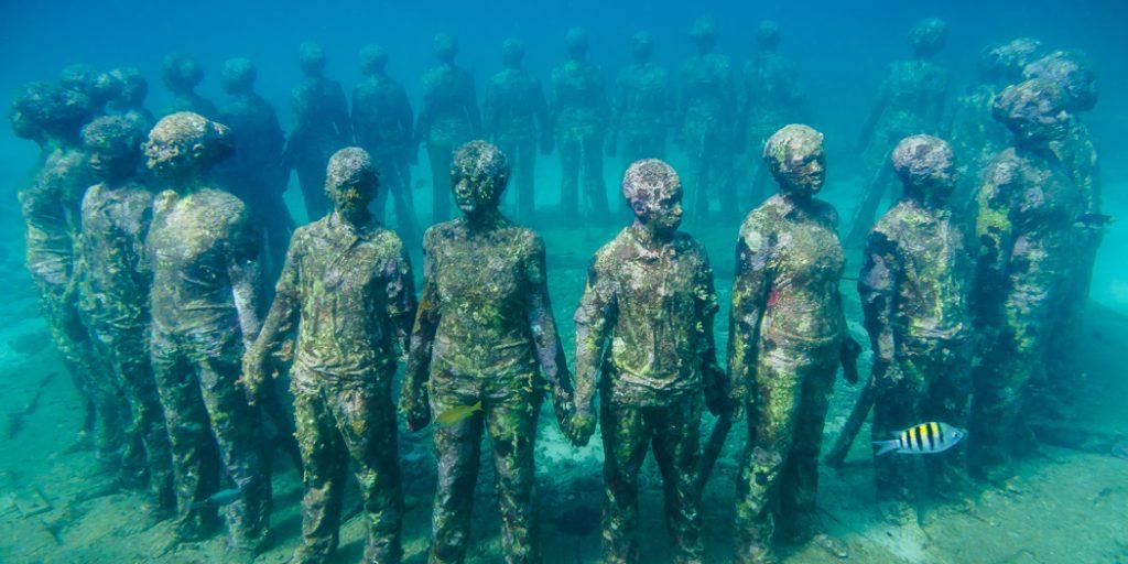 дайвинг в парке подводных скульптур
