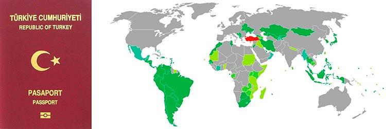 безвизовые страны для граждан Турции