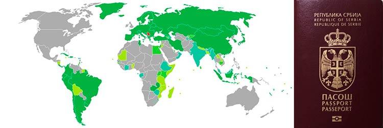 Какие безвизовые страны для граждан Сербии доступны иностранцам
