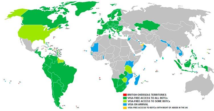 карта бво безвизовые поездки