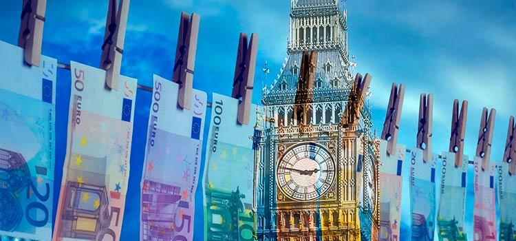 отмывать нелегальные деньги в Англии