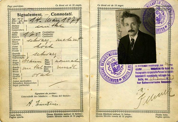 Швейцарский паспорт Альберта Эйнштейна 1923 года