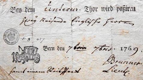 немецкий паспорт 1769 года
