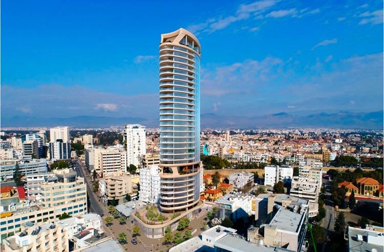 апартаменты в самом высоком здании Никосии