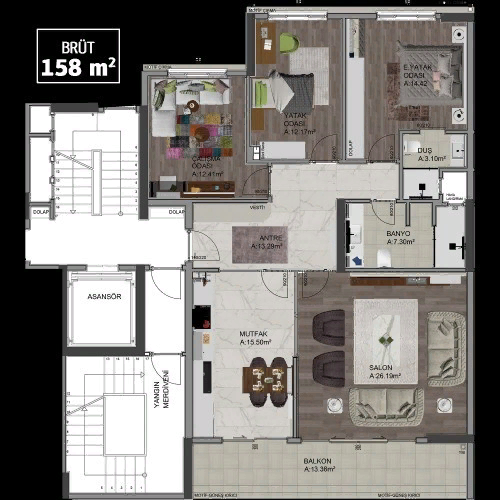 4-комнатная квартирав Турции