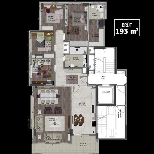 5-комнатная квартира с двумя санузлами
