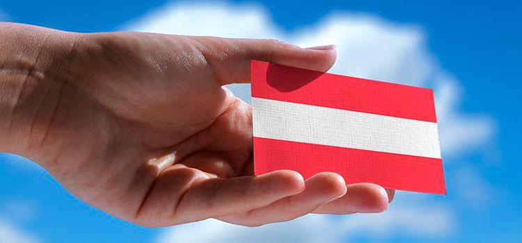 красно-белая карта Австрии