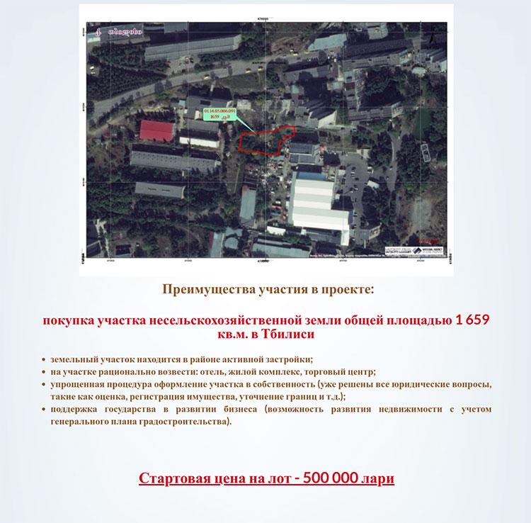 проект инвестиции в Тбилиси