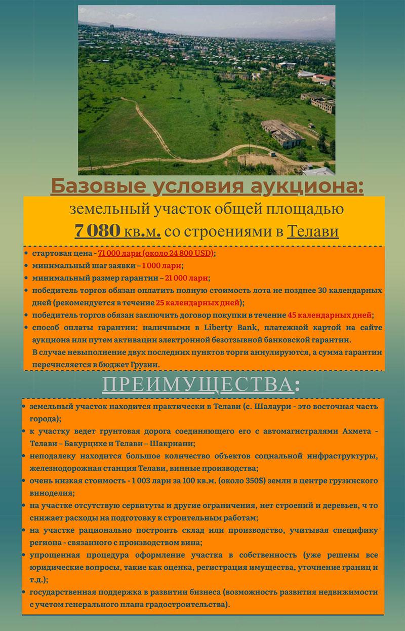 аукцион земли в Грузии