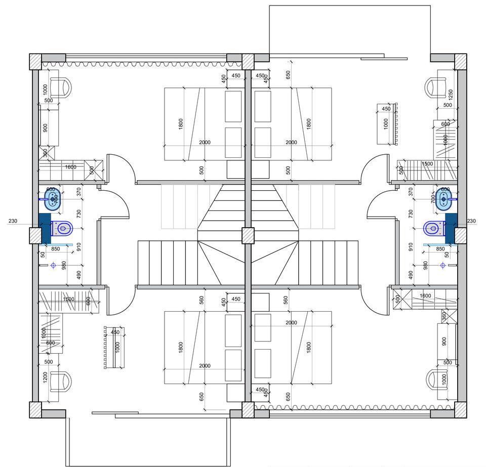 план второго этажа таунхаус Грузия