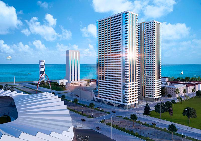 апартаменты у самого моря в новостройке Black Sea Towers