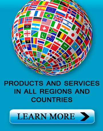 Products and services in all regions and countries