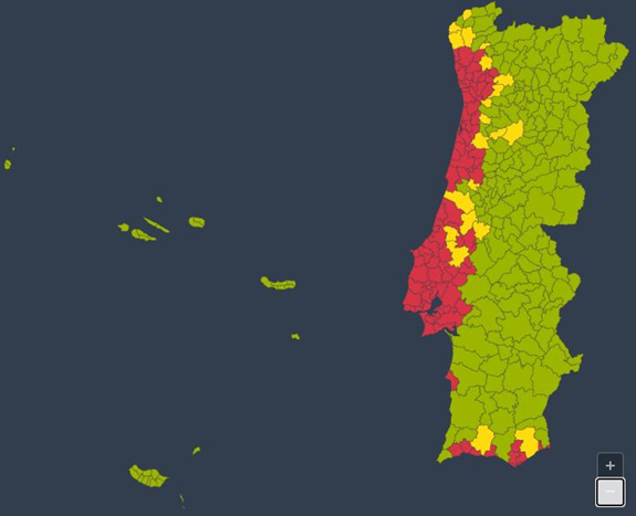 Карта Порту