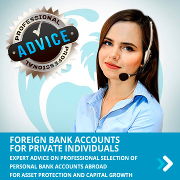 Foreign bank account for physical persons