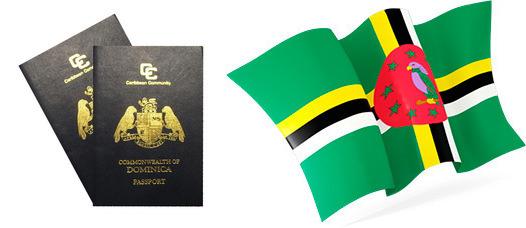 Флаг и паспорт Содружества Доминики