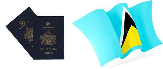 Флаг и паспорт Сент-Люсии