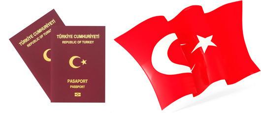 Флаг и паспорт Турции